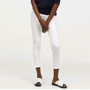 H&M Divided White Ankle Length Slacks